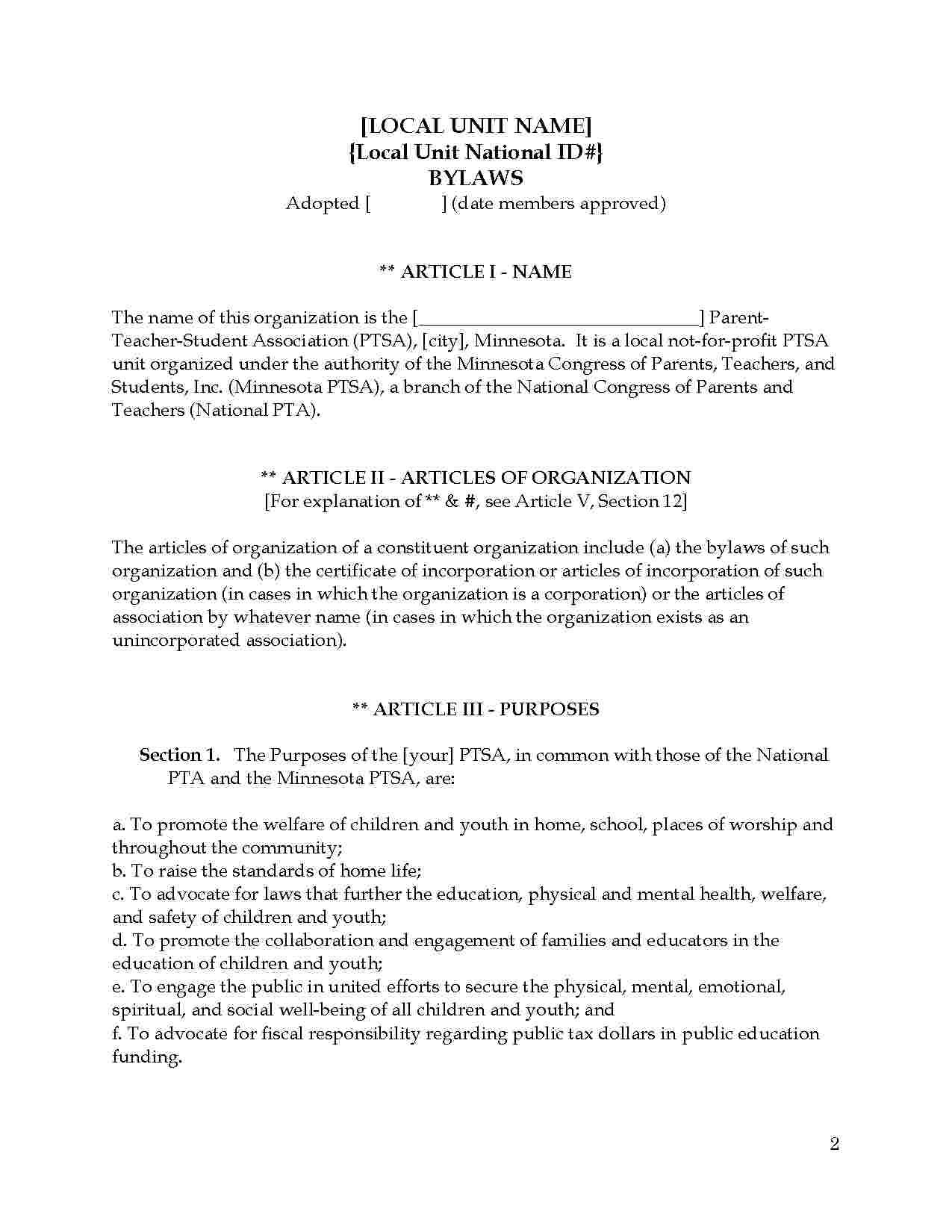 Templates Articles Of Incorporation Templates Hunter Templates Articles Incorporate
