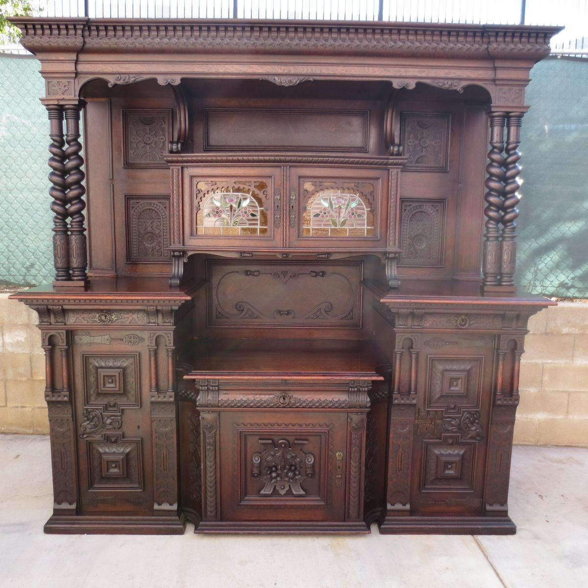 German Antique Cabinet Antique Back Bar Antique Hutch ...