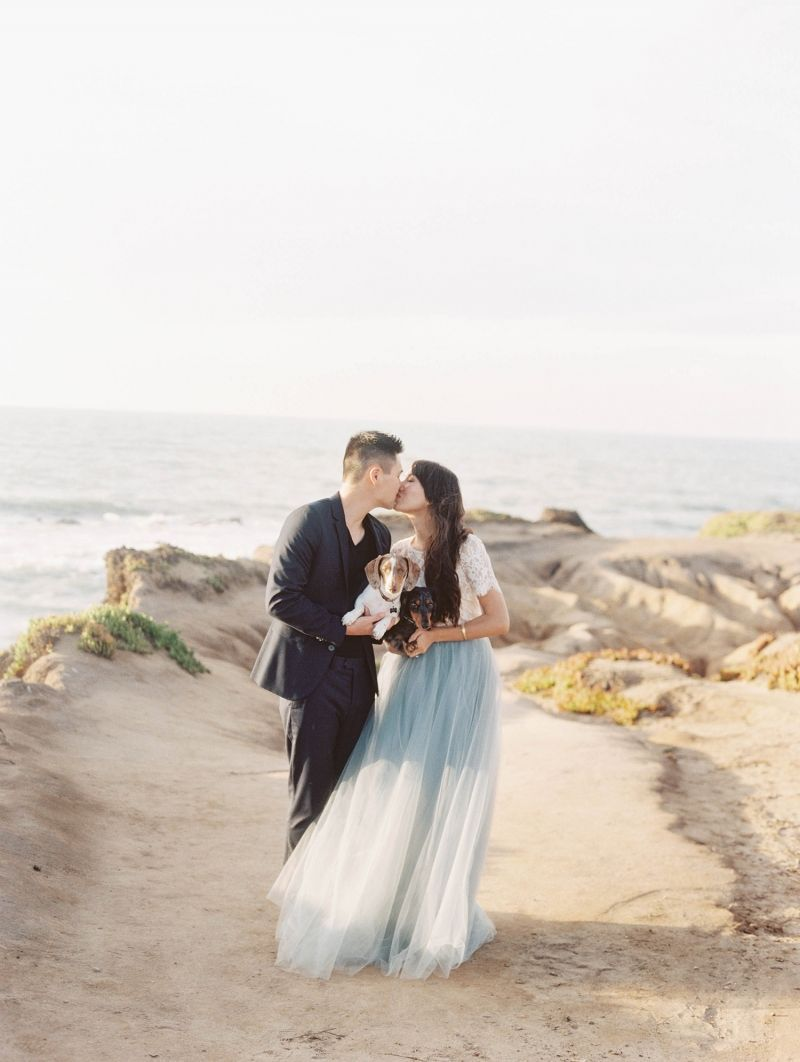 This adorable engagement session by jessica kay photography at half