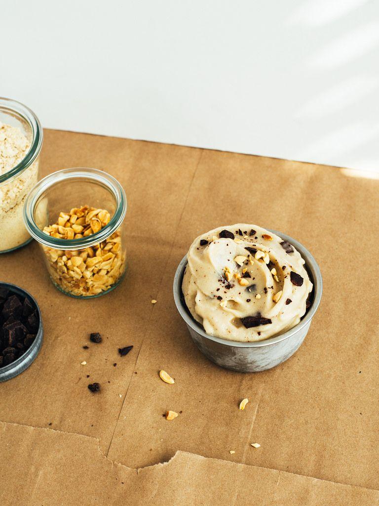 Chocolate chunk peanut butter soft serve   Oh, Ladycakes