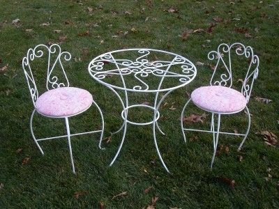 Bistro Style Child S Wrought Iron Table Party Furniture