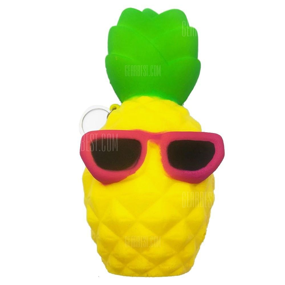 Toys cartoon images  Cool Cartoon Pineapple PU Foam Jumbo Squishy Toy  Stress u Fidget