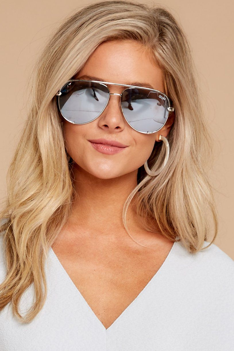2d5815f4a3f Quay Australia - Silver Sunglasses - Aviators -  65.00 – Red Dress Boutique