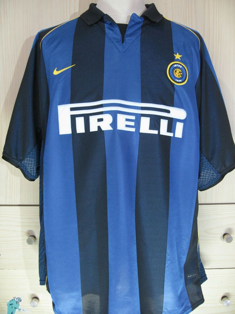buy online 272fb f8060 Inter Milan Italy Calcio Nike 2001 Player Vintage Football ...
