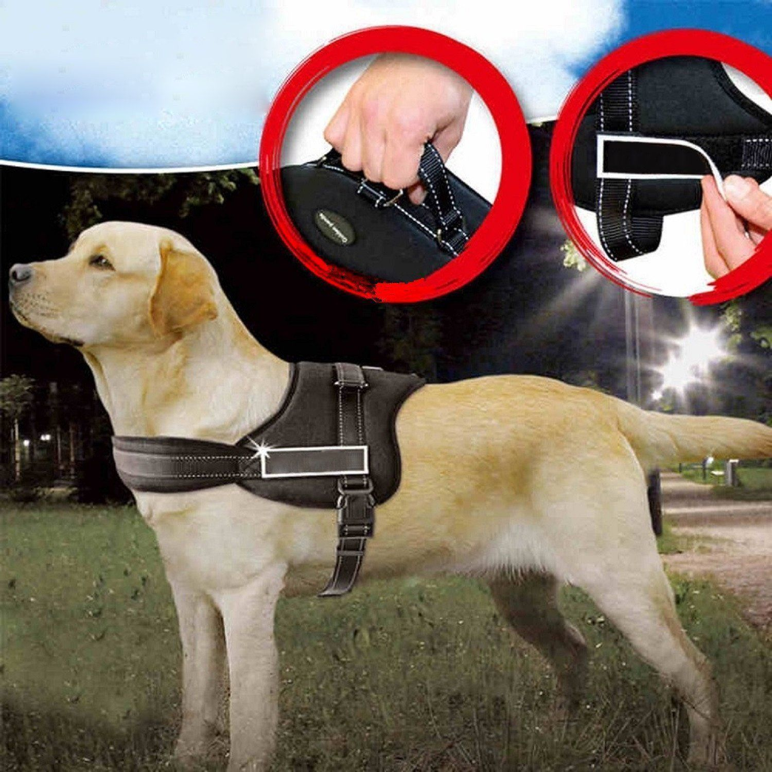 Powerlead Dog Harness K8 No Pull Harness Dog Leash Padded Pet