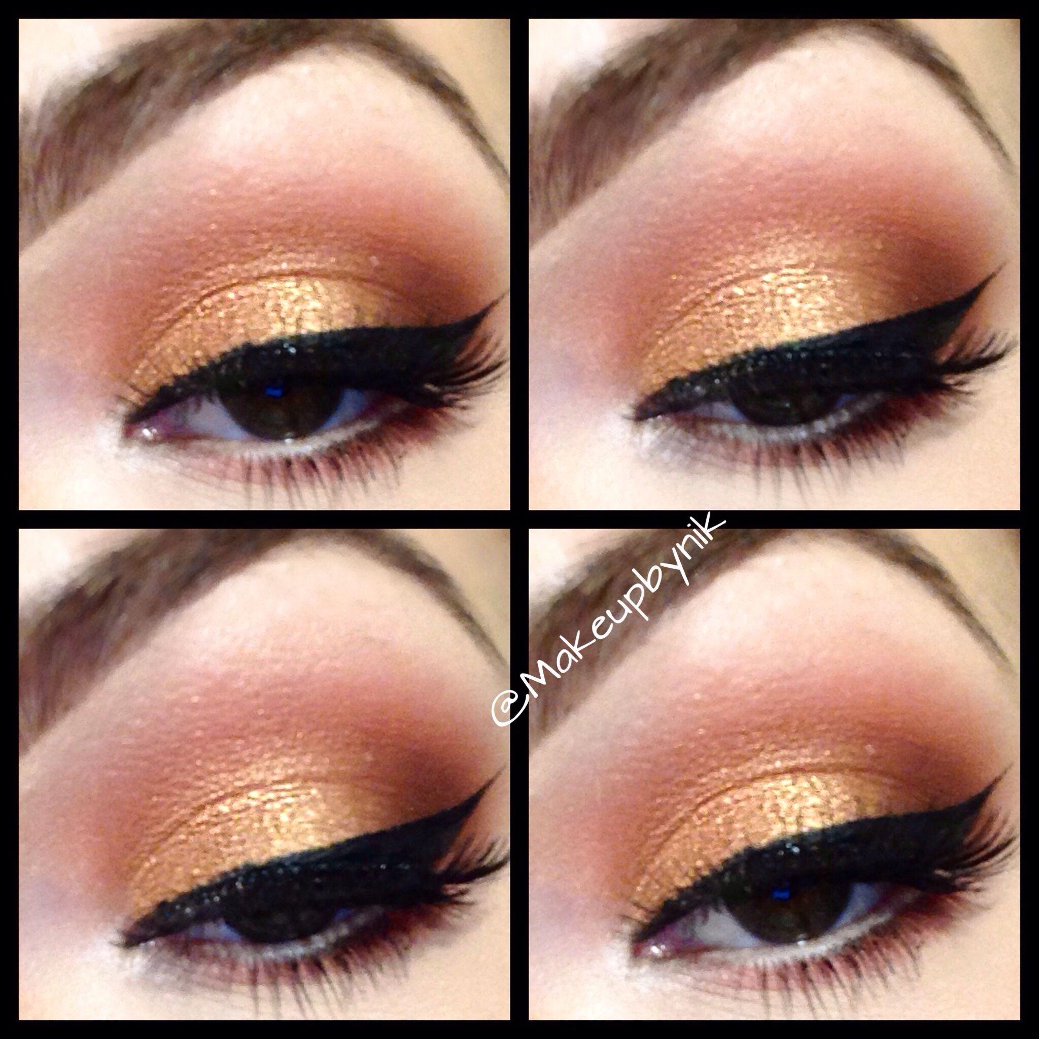 warm summer eye using all mac eyeshadows. lid• amber lights crease