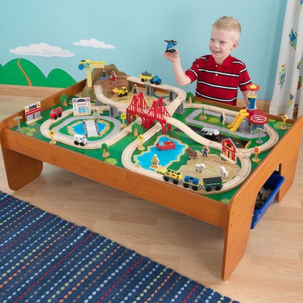 KidKraft Ride Around Town Train Table Set by KidKraft | Products ...