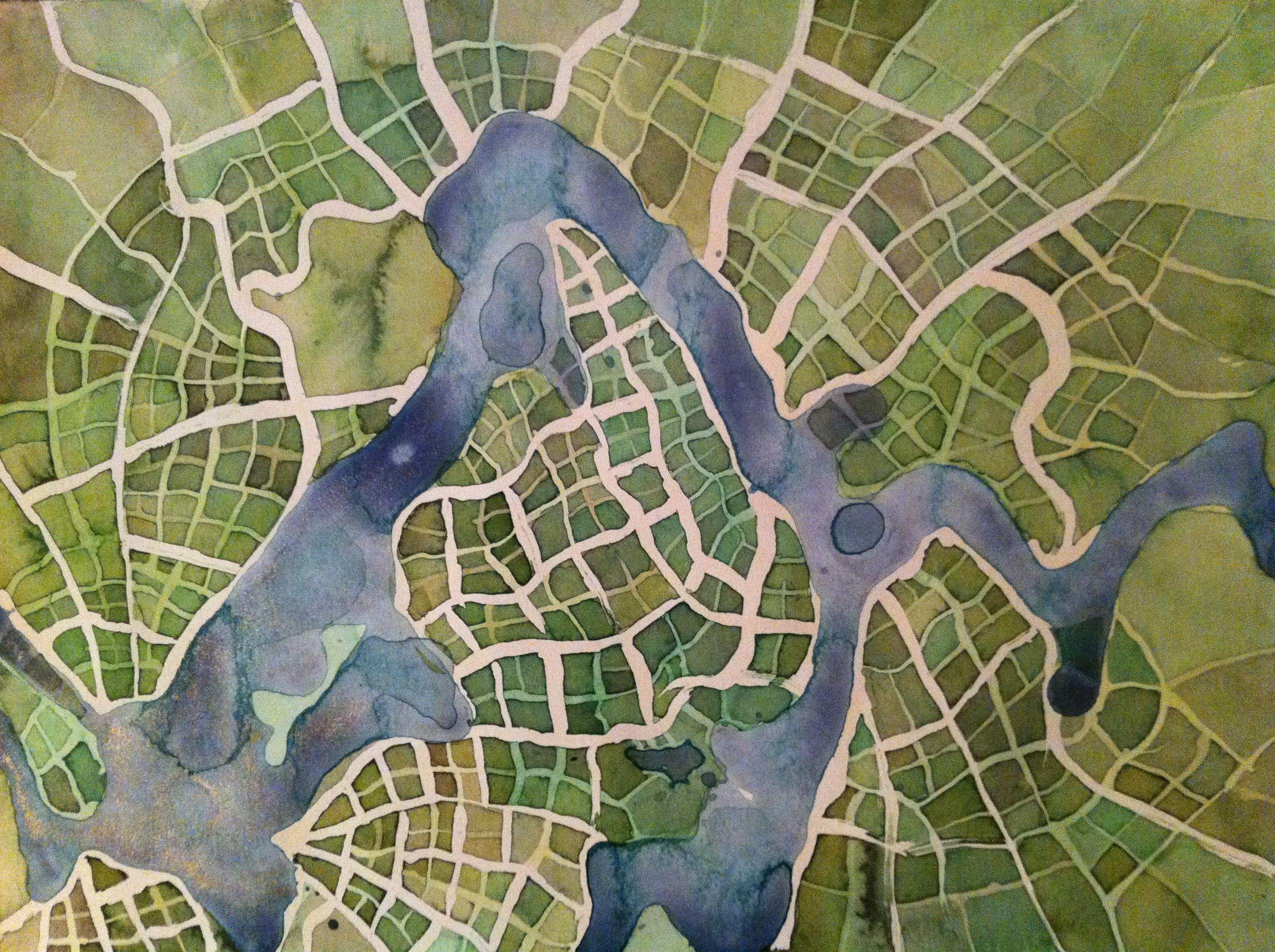Emily Garfield e le sue Imaginary Maps