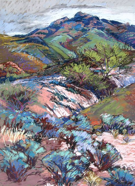 Rincon Mt Foothills By Annie Helmericks Trait Couleur