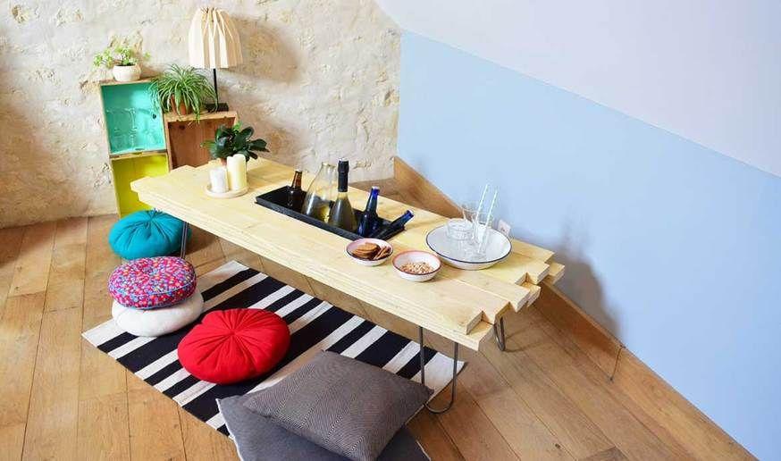 diy fabriquer une table basse avec bac glaces int gr tutoriels diy diy table table. Black Bedroom Furniture Sets. Home Design Ideas