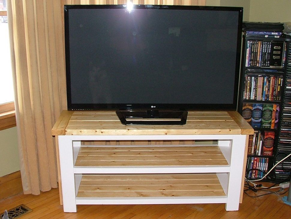 21 Diy Tv Stand Ideas For Your Weekend Home Project White Tv Stands Tv Stand Blueprints