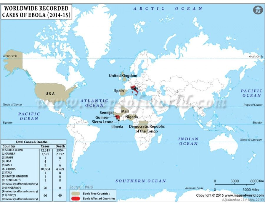 World Map Showing Ebola Outbreak World Map Pinterest - best of world map with brazil highlighted
