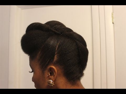 twisted pompadour roll tuck
