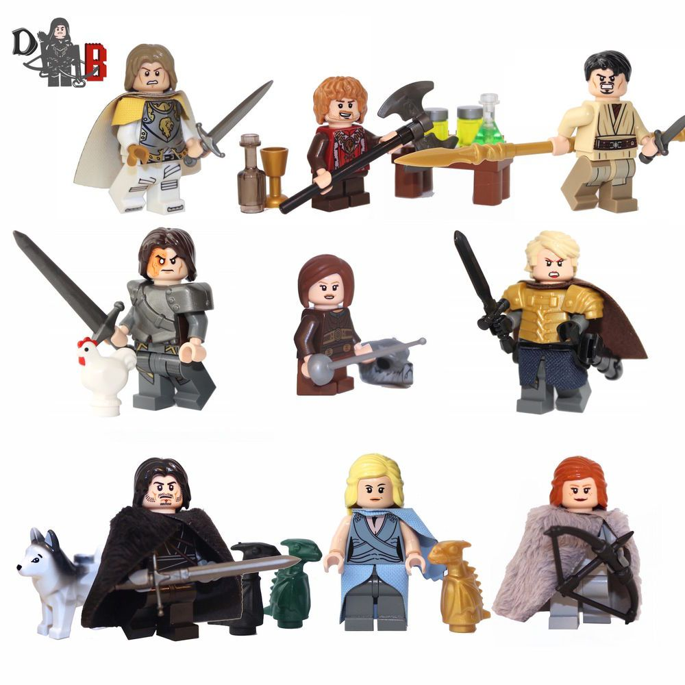 Game Of Thrones 9 Pack Of Minifigures Made Using Lego Custom Parts Ebay Lego Games Mini Figures Lego