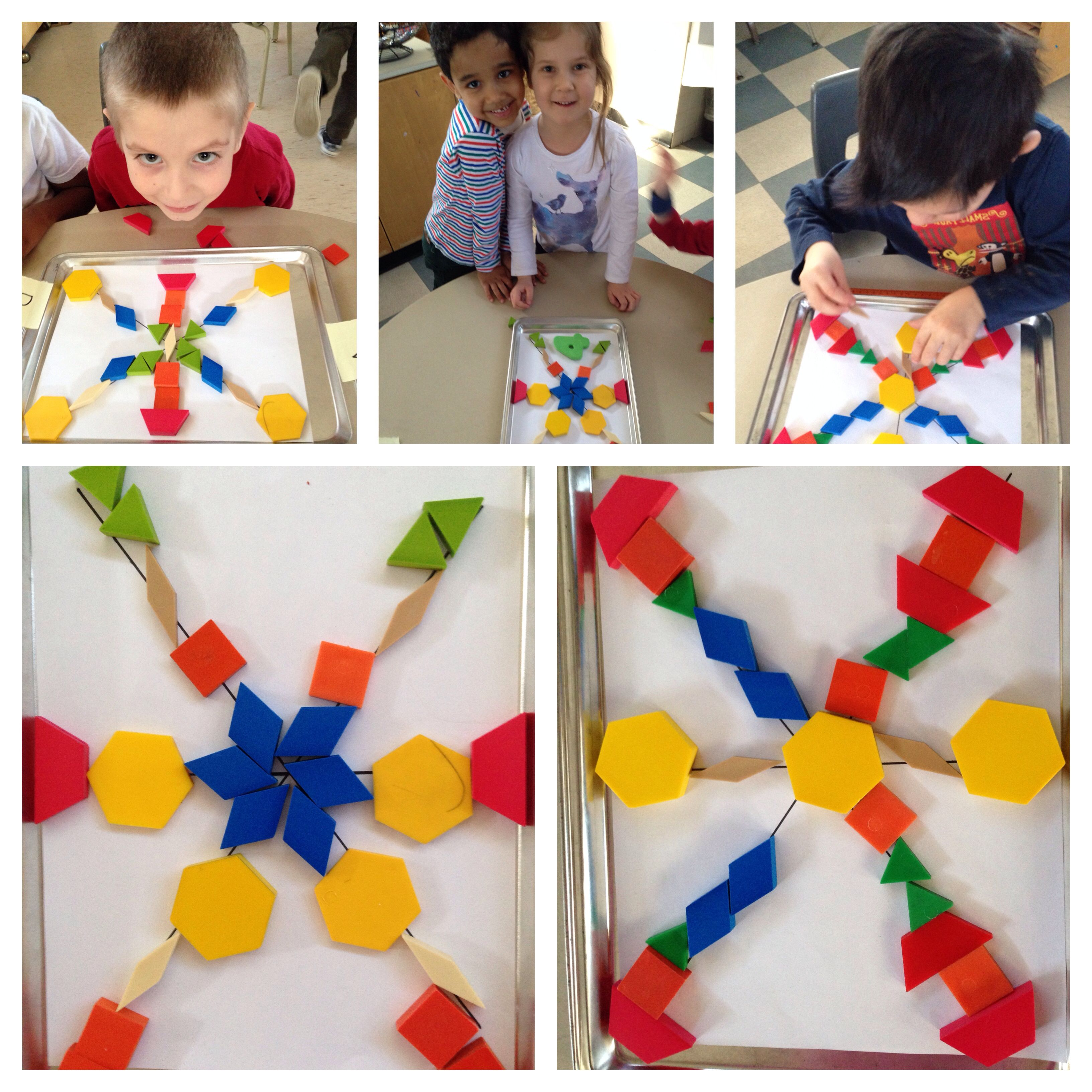 Symmetry Snowflakes Pattern Blocks