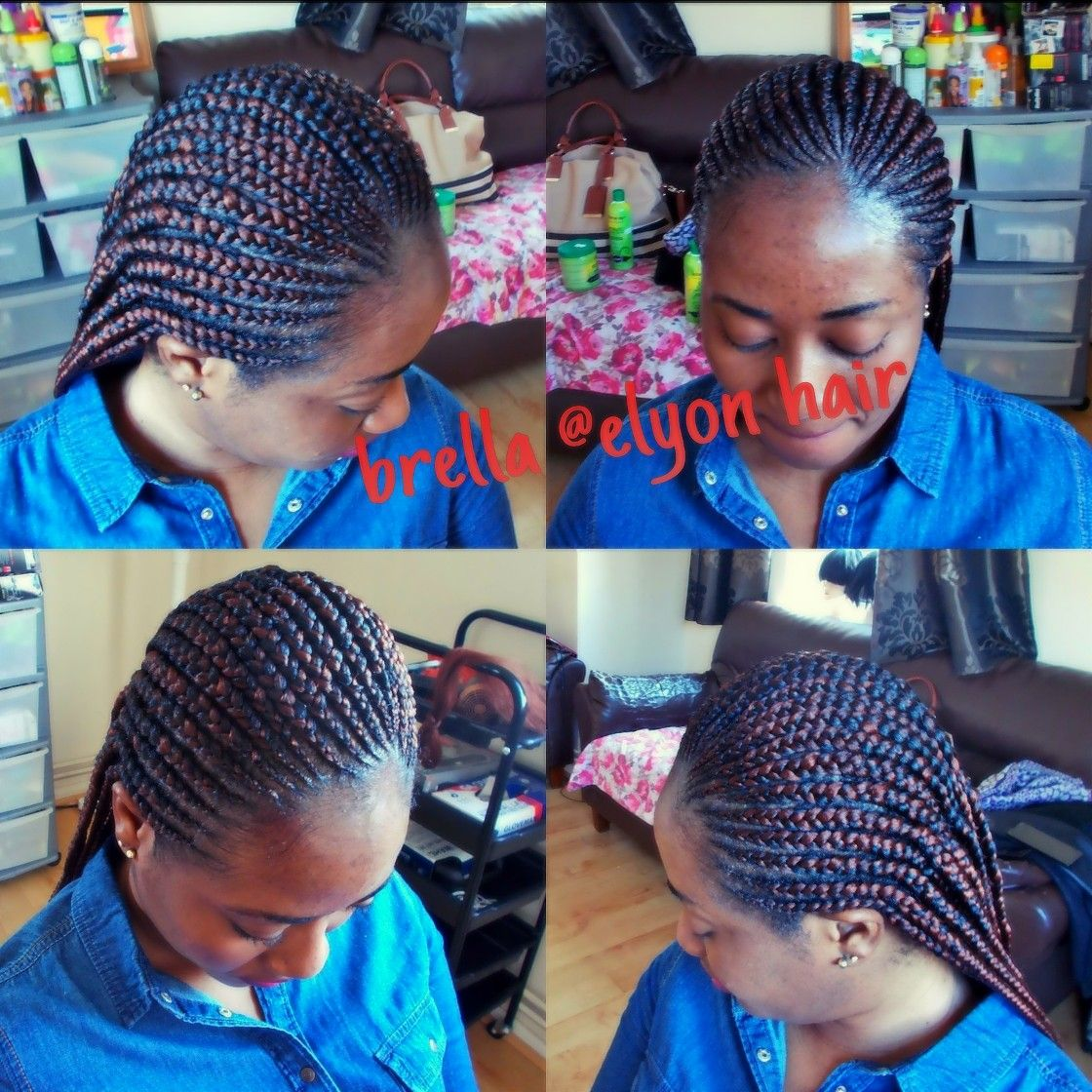 Small Simple Invisible Braids Going Straight Back Small Cornrows