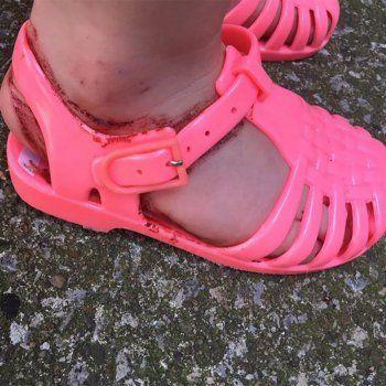 Calzado Más Peligroso GomaEl Para Sandalias De Los Niños ARj54L3