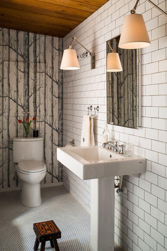 Powder Room Birch Wallpaper Google Search Bathroom