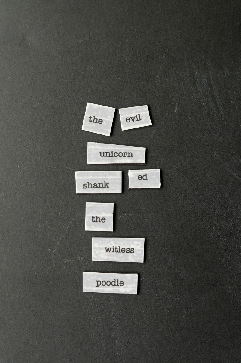 Frozen Poetry Magnets Refrigerator Poetry Word Magnets