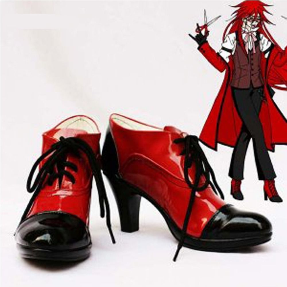 Black Butler Grell Sutcliff Cosplay Shoes for ONLY 5399 with FREE Shipping