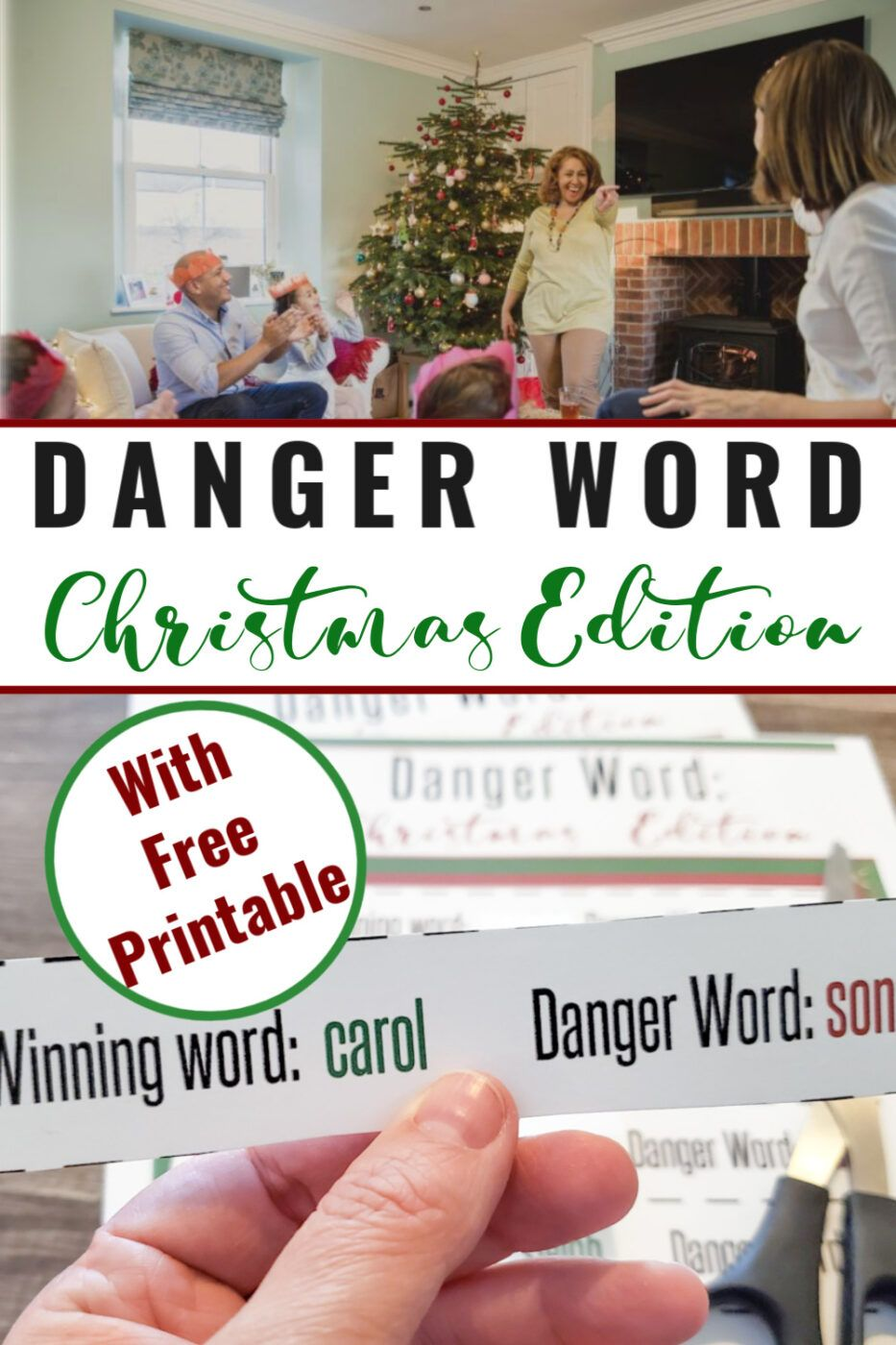 Danger Word Christmas Edition Free Printable With Images