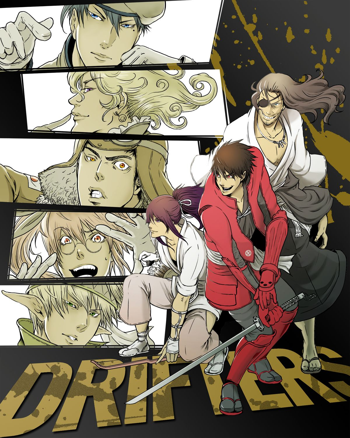 Drifters genres action adventure comedy fantasy historical samurai seinen
