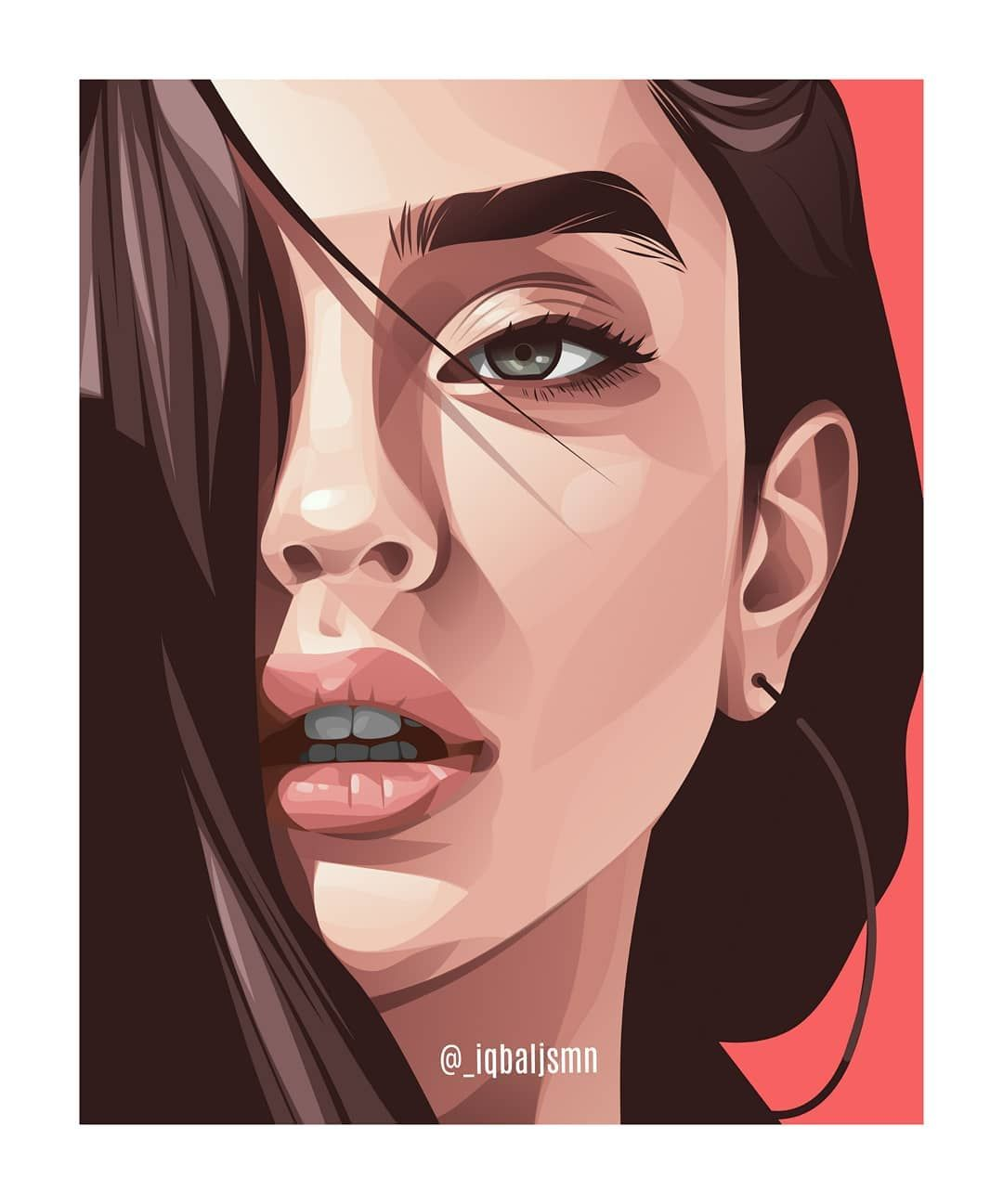 ardroidz : I will draw a detailed vector portrait illustration for $10 on fiverr.com