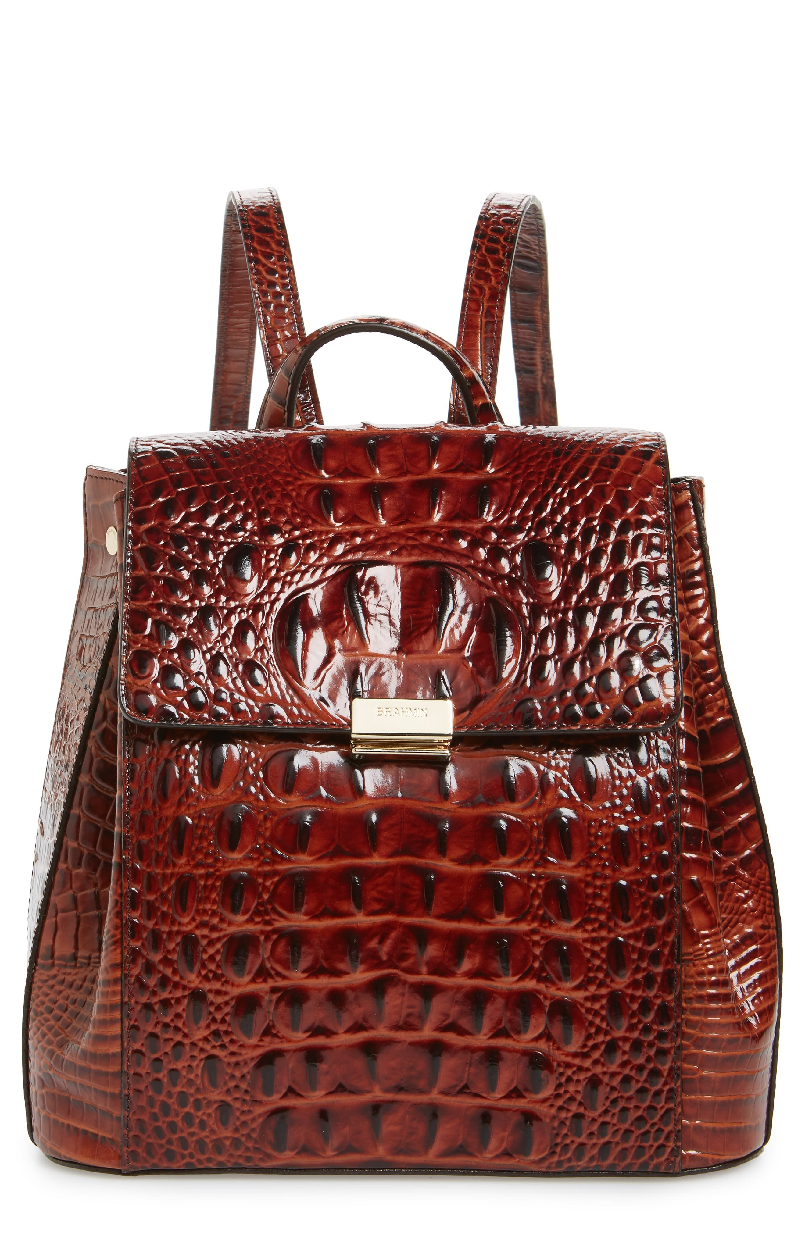 5bb167618 Brahmin Margo Croc Embossed Leather Backpack in 2019 | Products ...