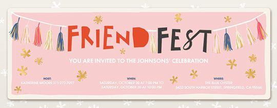 Friend Fest Invitation Ellie S 9th Birthday Party Ideas Birthday