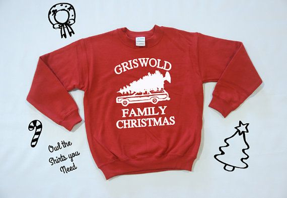 Grisworld Family Christmas Sweatshirt. by owltheshirtsyouneed