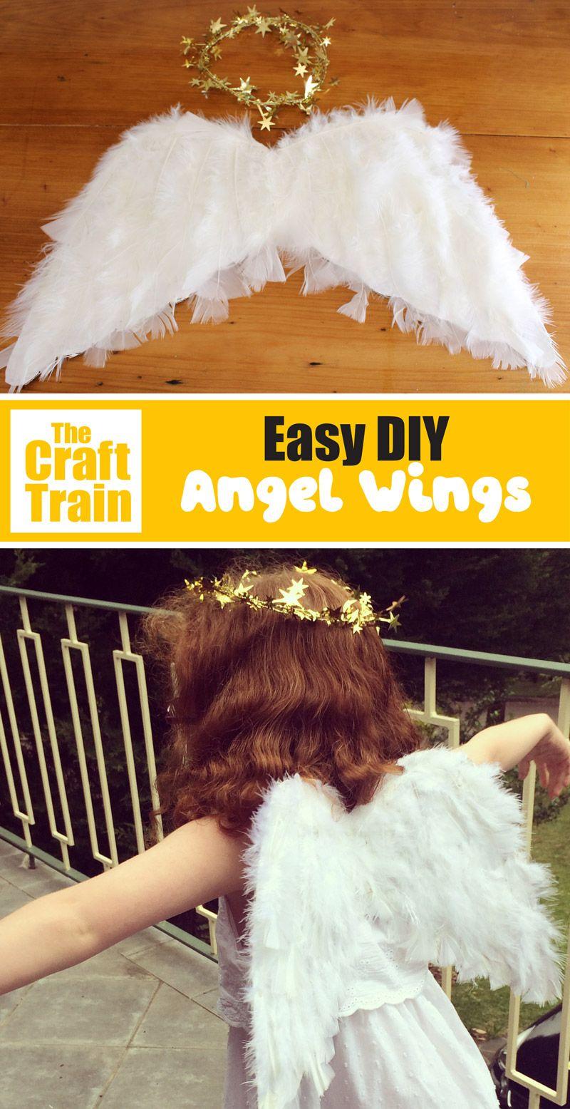 Easy Diy Angel Wings The Craft Train Diy Angels Diy Angel Wings Angel Costume Diy