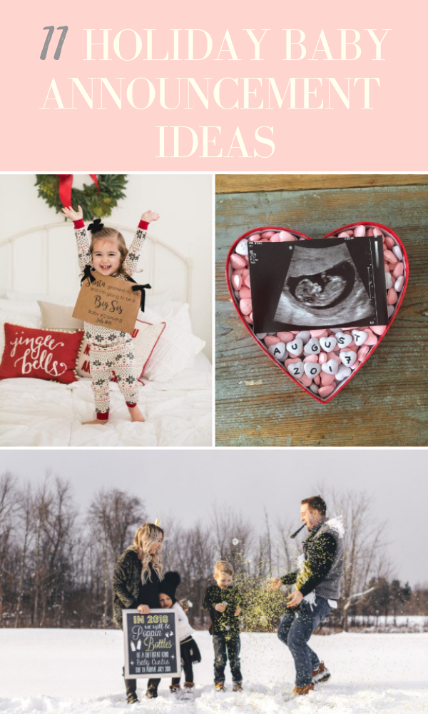 The Ultimate List Of Baby Announcement Ideas For New Moms Love Love Love Christmas Baby Announcement Fun Baby Announcement Baby Announcement To Husband