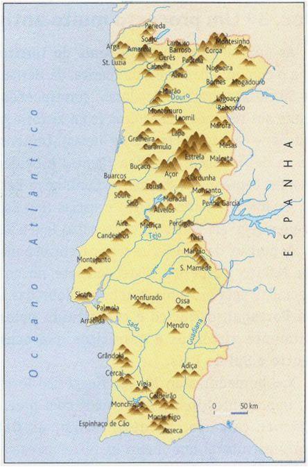 mapa de rios e serras de portugal rios e serras | marvellous Portugal | Pinterest | Portugal mapa de rios e serras de portugal