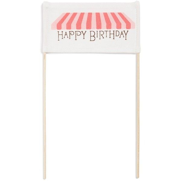 Tin Parade 'Happy Birthday - Pink Sweets' Cake Banner (300 ZAR) ❤ liked on Polyvore featuring home and kitchen & dining