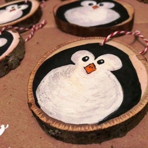 35 Ideen zum Basteln mit Holzscheiben: kreativ und naturnah zu Weihnachten dekorieren #holzscheibendeko