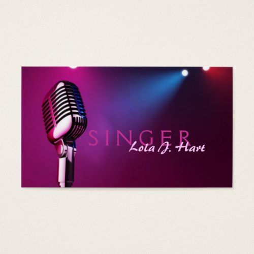 Singer Vocalist Solo Performance Entertainment Business Card Zazzle Com Singer Artist Business Cards Vocalist