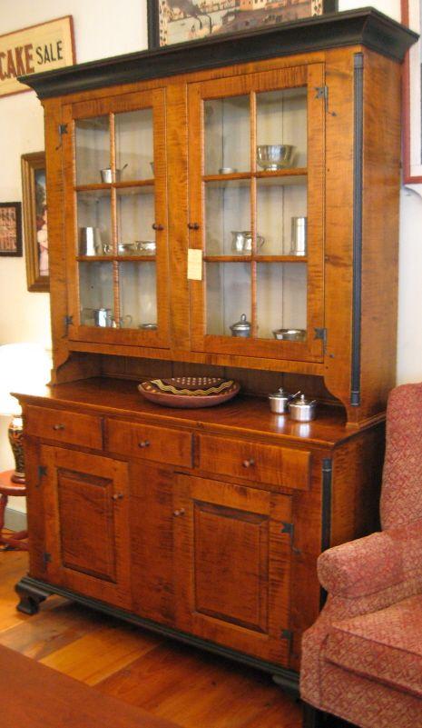 Pennsylvania Dutch Cupboard in curly maple | China cabinet ...