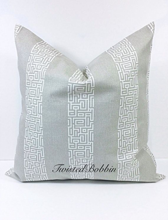GRAY Pillow cover.Gray and white.Gray by TwistedBobbinDesigns
