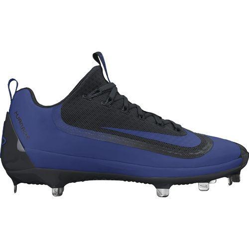 Nike Men\u0027s Huarache Baseball Cleats (Black/White/Rush Blue, Size - Adult Baseball  Shoes at Academy Sports