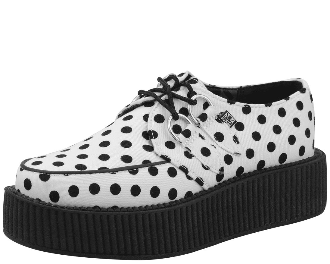 Black Dot Viva Mondo Creeper - T.U.K. Shoes | T.U.K. Shoes  http://www.tukshoes.com/black-dot-viva-mondo-creeper