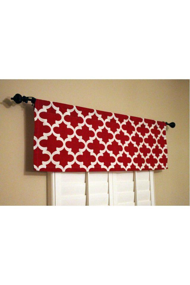 Red Modern Print Kitchen Curtain 2 You Ideas Kitchen Window