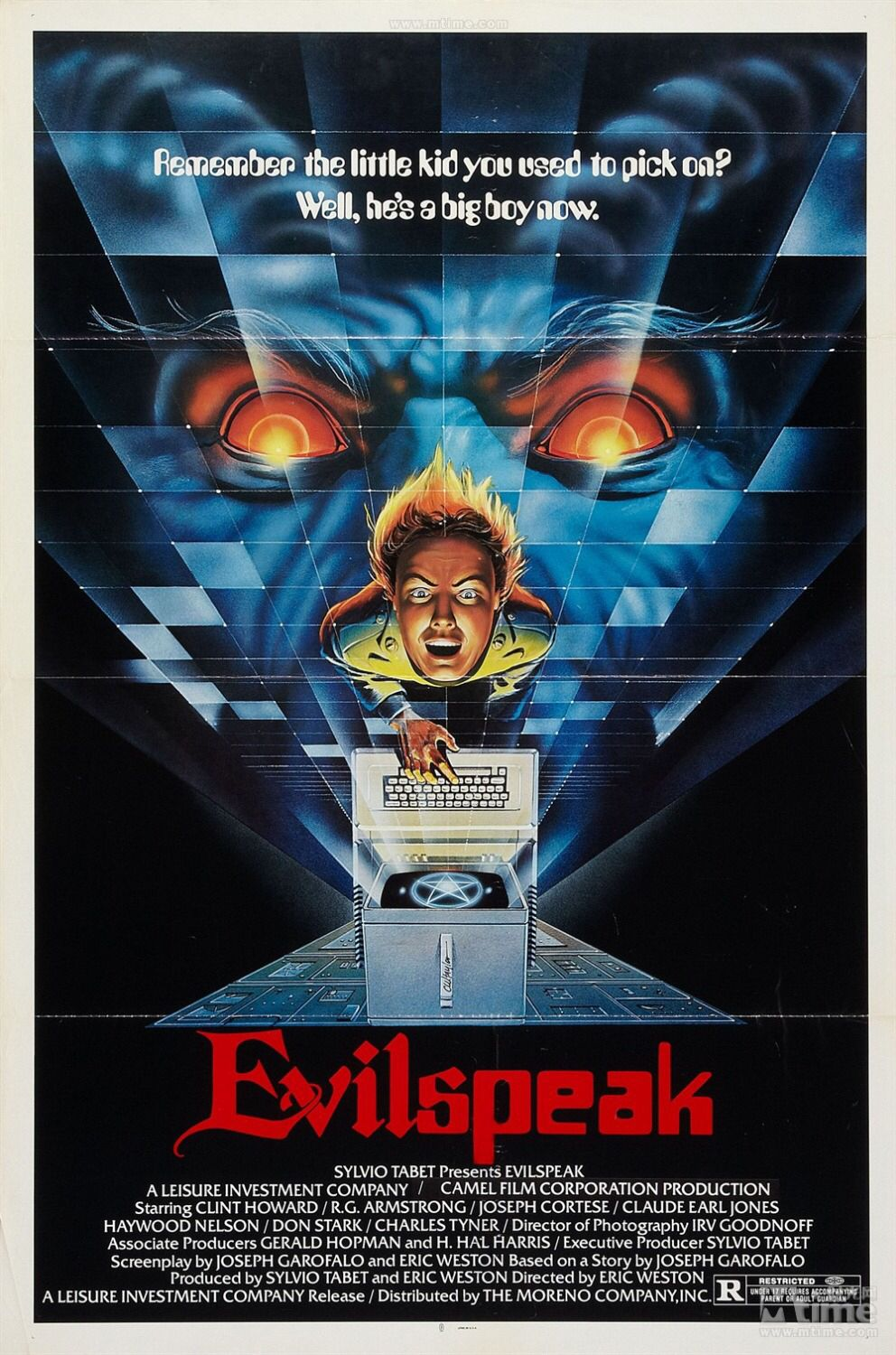 Evil speak (With images) Horror movie posters, Movie posters
