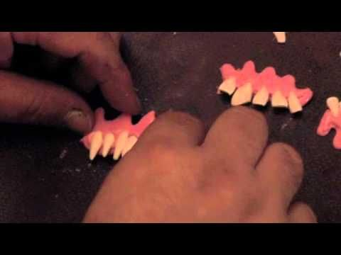 How to make teeth plates for your props with hot glue!