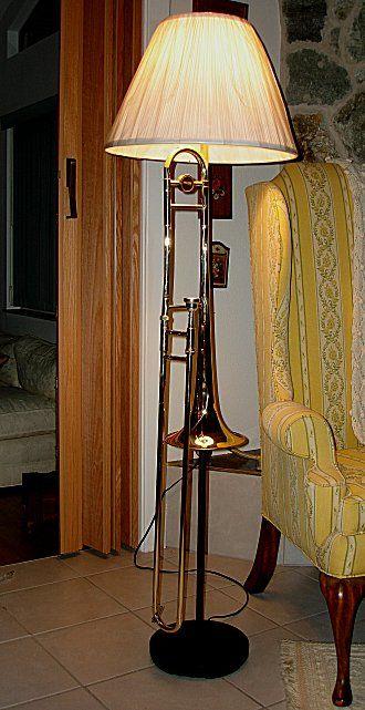 Trombone Floor Lamp   Diy floor lamp, Lamp, Floor lamp