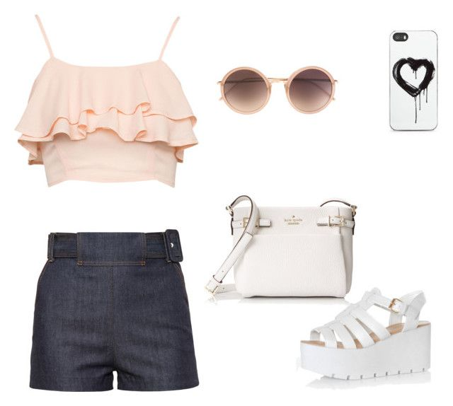 """""""Untitled #107"""" by babis117 ❤ liked on Polyvore featuring Glamorous, Balenciaga, Kate Spade, Zero Gravity and Linda Farrow"""