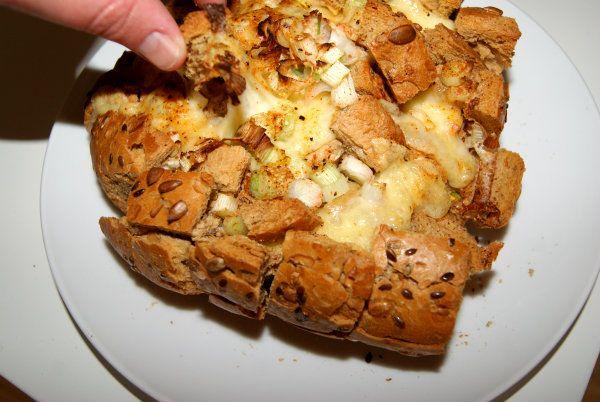 Fransk brød med fyld