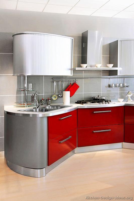 Etonnant #Kitchen Idea Of The Day: Modern Red Kitchens.