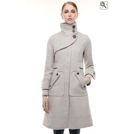 Soia & Kyo - Cali - Long wool coat with front zip closure | My ...