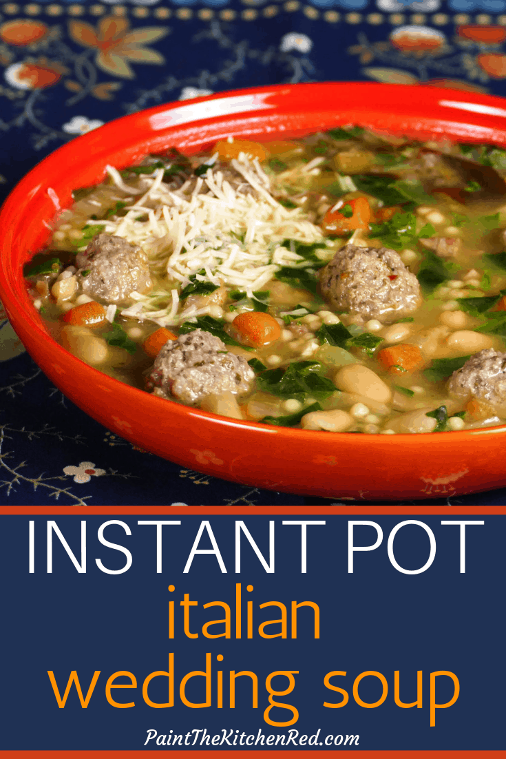 Instant Pot Italian Wedding Soup #italianweddingsoup