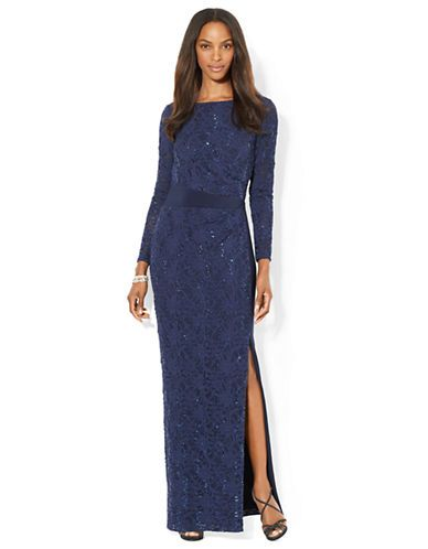 Brands Formalevening Sequined Lace Gown Lord And